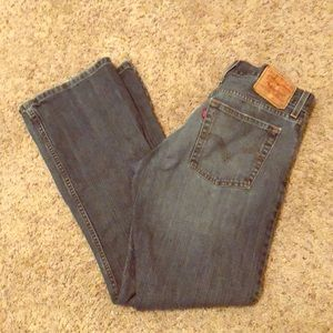 Men's LEVI 527 low boot cut JEANS 31W X 30L